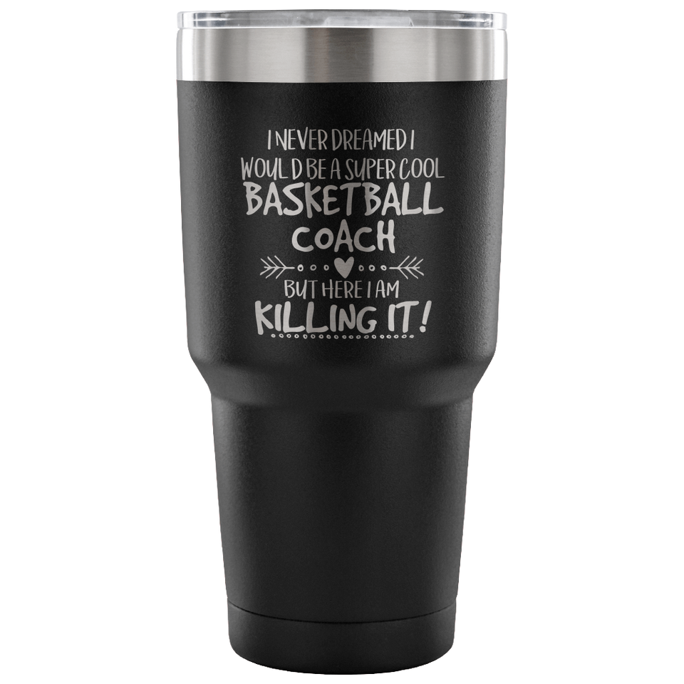 Basketball Coach Travel Coffee Mug