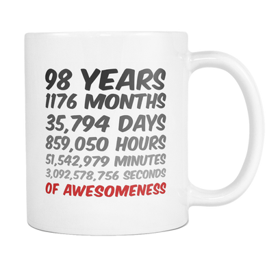98 Years Birthday or Anniversary Mug