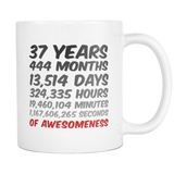 37 Years Birthday Mug or Anniversary Gift Idea