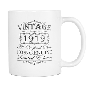 100th Birthday Mug - Vintage - Born in 1919 Coffee Mug