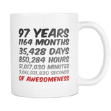 97 Years Birthday Mug