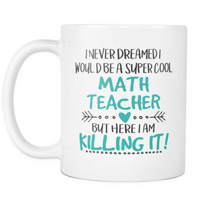 Super Cool Math Teacher Coffee Mug