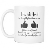 Thank You For Being My Brother in law Mug