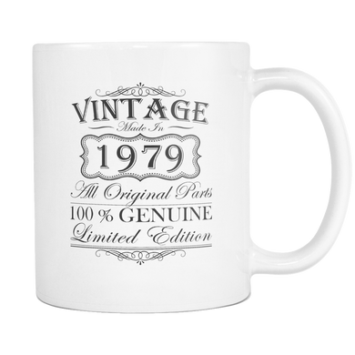 40th Birthday Mug - Gift Ideas - Vintage - Born in 1979 White Coffee Mug
