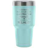 Construction Manager Travel Coffee Mug