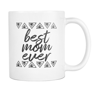 Best Mom Ever Triangles Coffee Mug