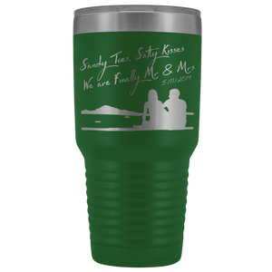 Sandy Toes and Salty Kisses Travel Mug