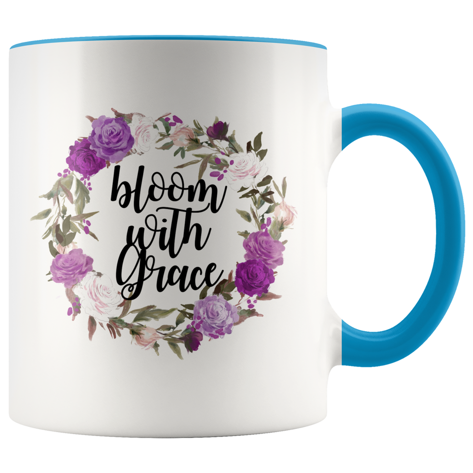 Bloom With Grace Accent Mug