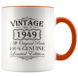 70th Birthday Mug – Gift Ideas - Vintage – Born In 1949 Accent Coffee Mug