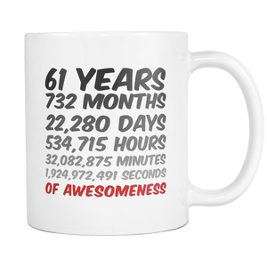 61st Birthday or Anniversary Mug