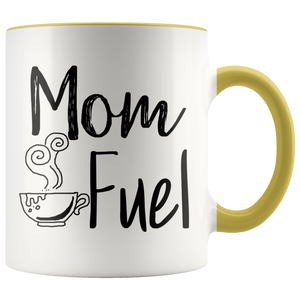 Mom Fuel Accent Mug