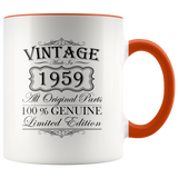 60th Birthday Mug – Gift Ideas - Vintage – Born In 1959 Accent Coffee Mug