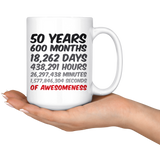 50 Years Of Awesomeness Mug