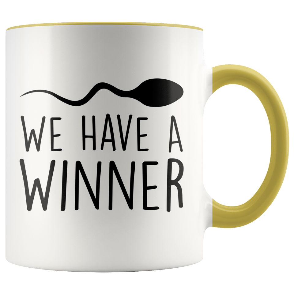 We Have A Winner, Funny Pregnancy Announcement Accent Mug