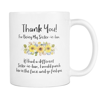 Sister In Law Sunflower Mug