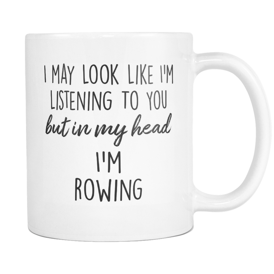 In My Head I'm Rowing Mug