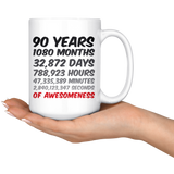 90 Years Birthday or anniversary Mug