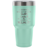 Super Cool Swim Coach with swimmer icon Travel Mug