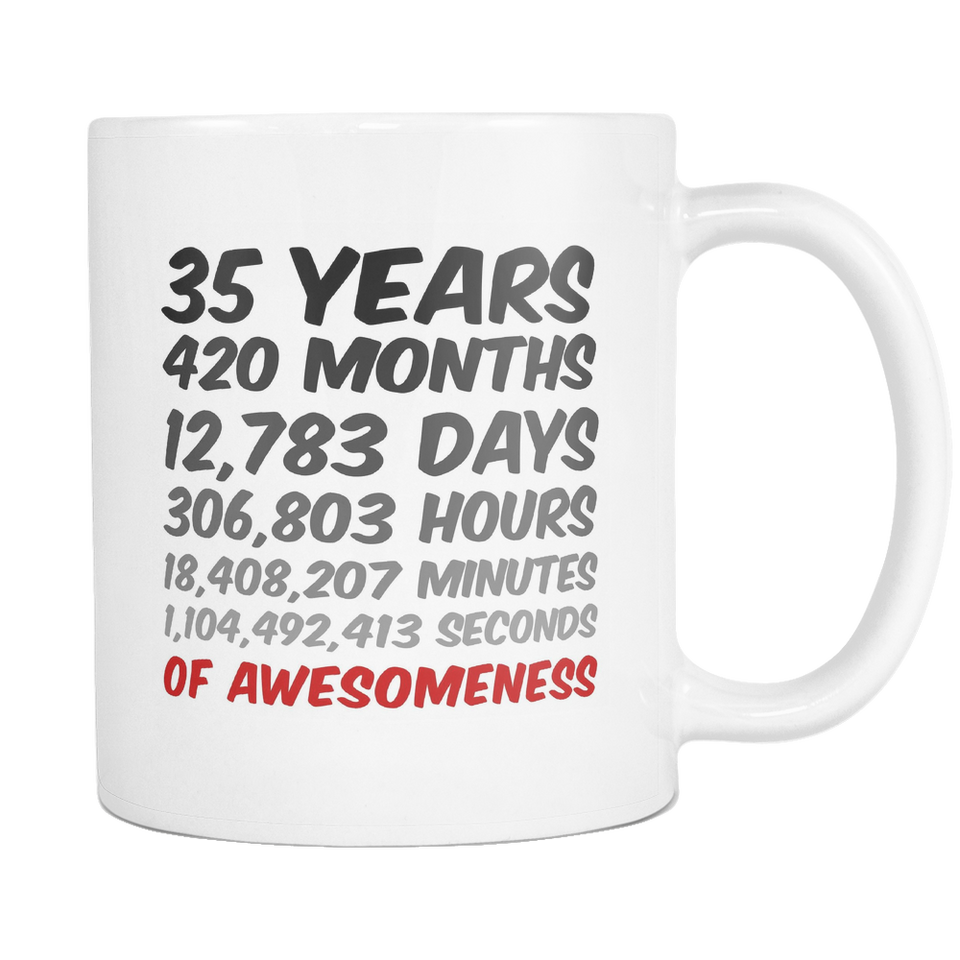 35 Years of Awesomeness Coffee Mug