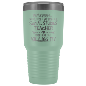 Super Cool social studies Teacher Travel Mug