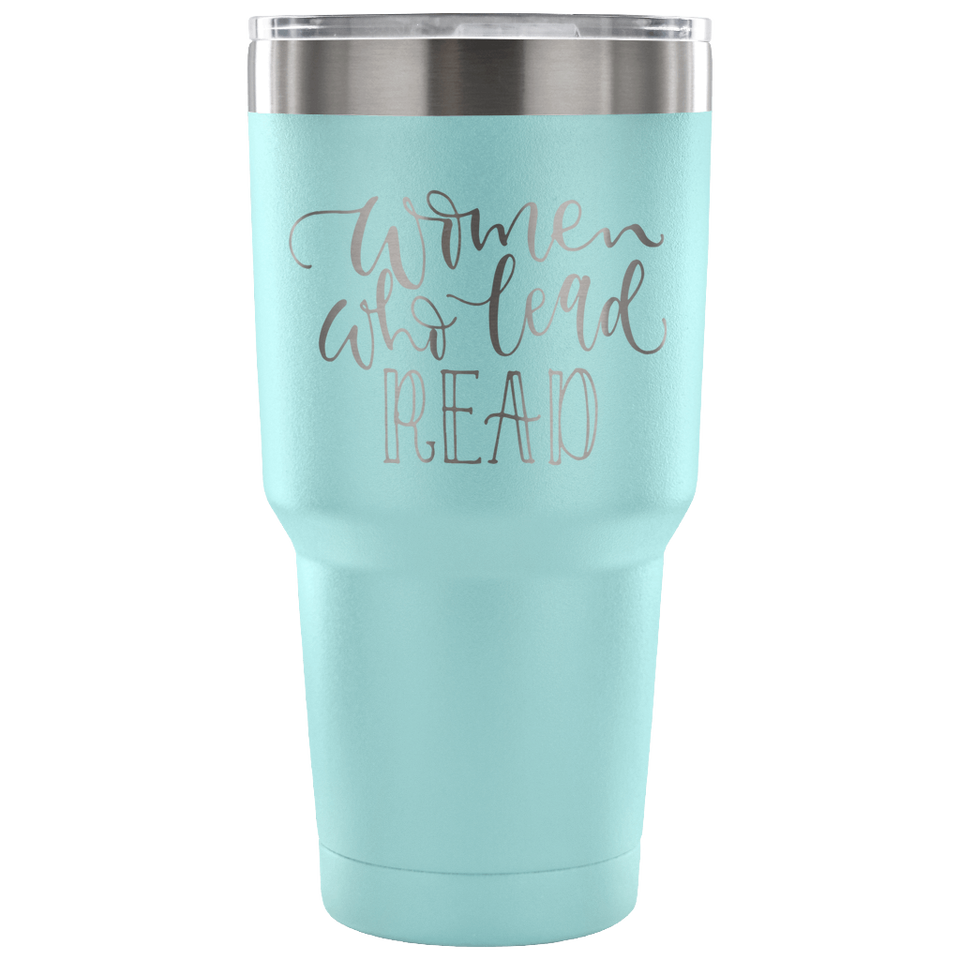 Women Who Lead Read Travel Mug
