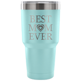 Best Mom Ever 2 Hearts Travel Mug