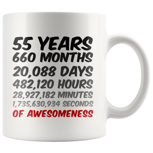 55th Birthday or Anniversary Mug