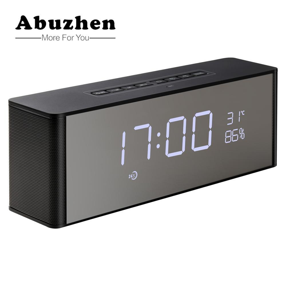 BLUETOOTH & WIRELESS SPEAKERS BLUETOOTH & WIRELESS SPEAKERS Abuzhen Enceinte Speaker Bluetooth Speaker Portable Wireless Stereo Altavoz Bluetooth for Phone Xiaomi with TF FM Alarm Clock