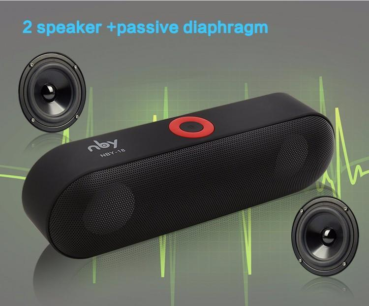 BLUETOOTH & WIRELESS SPEAKERS BLUETOOTH & WIRELESS SPEAKERS Bluetooth Speakers NBY-18 Outdoor Portable Bluetooth Speaker Wireless Mini Speaker Super Bass Support TF Card USB Flash Drive