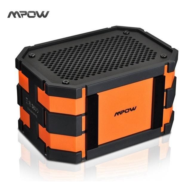 BLUETOOTH & WIRELESS SPEAKERS BLUETOOTH & WIRELESS SPEAKERS China / Orange Updated Mpow Armor Waterproof wireless Bluetooth Speaker Passive Outdoor Loudspeakers MP3 Speakers Power Bank for iPhone Xiaomi