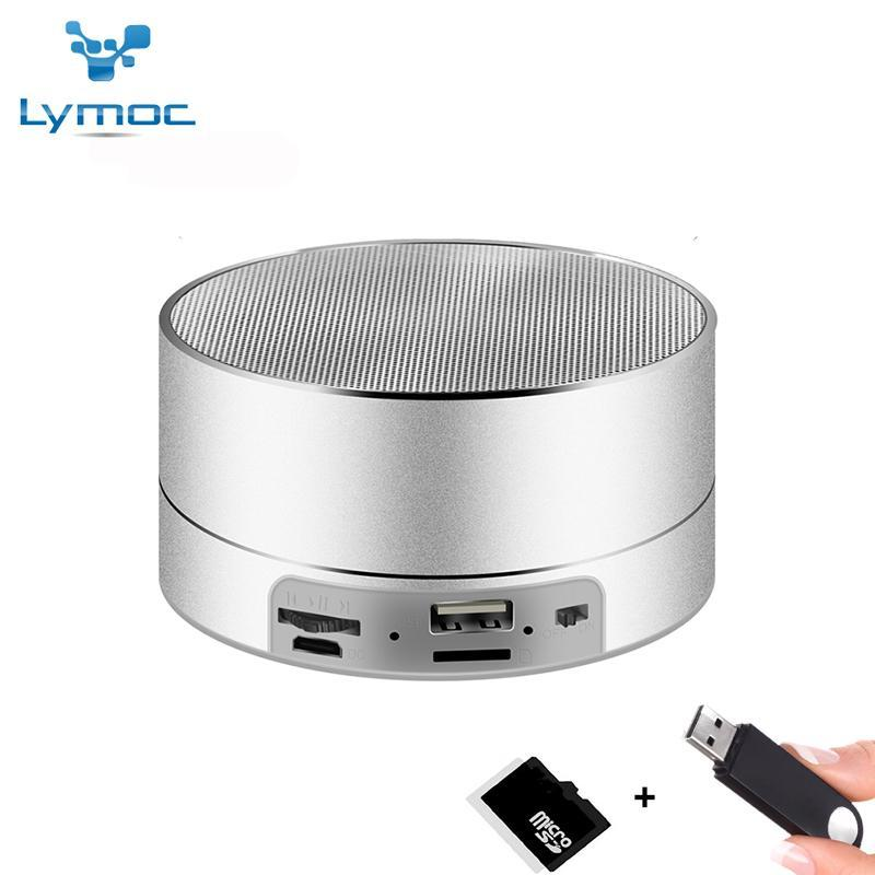 BLUETOOTH & WIRELESS SPEAKERS BLUETOOTH & WIRELESS SPEAKERS LYMOC Metal Bluetooth Speakers Wireless Subwoofer Portable Speaker 3D Heavy Bass FM TF card U-disk Music Play for iPhone XiaoMi