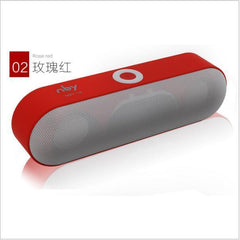 BLUETOOTH & WIRELESS SPEAKERS BLUETOOTH & WIRELESS SPEAKERS Red Bluetooth Speakers NBY-18 Outdoor Portable Bluetooth Speaker Wireless Mini Speaker Super Bass Support TF Card USB Flash Drive