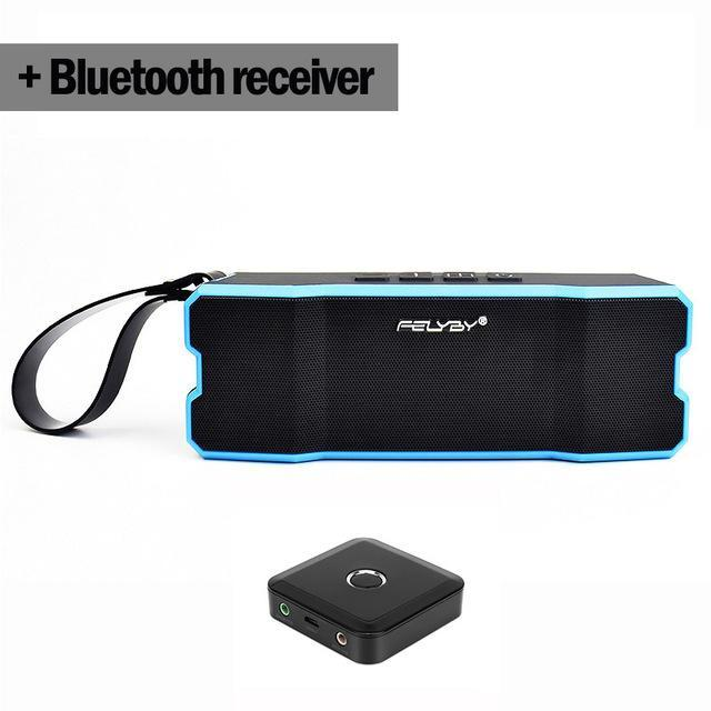 BLUETOOTH & WIRELESS SPEAKERS BLUETOOTH & WIRELESS SPEAKERS United States / Blue and Receiver IPX6 waterproof Portable Bluetooth speaker Outdoors and family stereo wireless speaker for phone and laptops 4500mAh large power