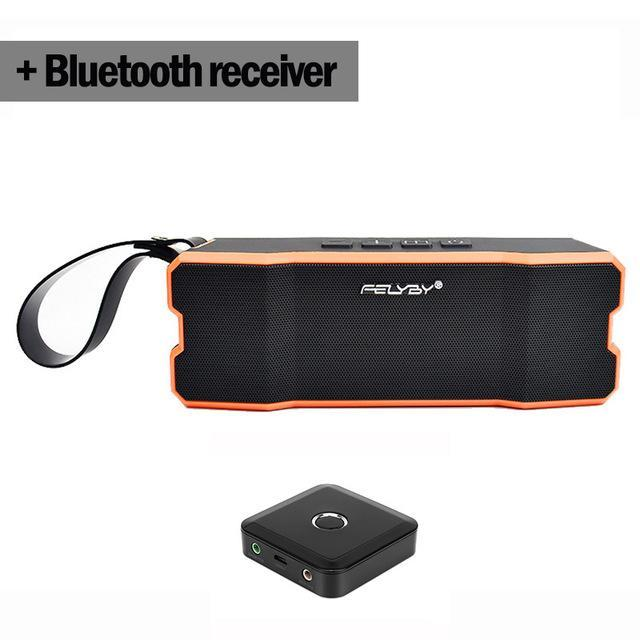 BLUETOOTH & WIRELESS SPEAKERS BLUETOOTH & WIRELESS SPEAKERS United States / Orange and Receiver IPX6 waterproof Portable Bluetooth speaker Outdoors and family stereo wireless speaker for phone and laptops 4500mAh large power