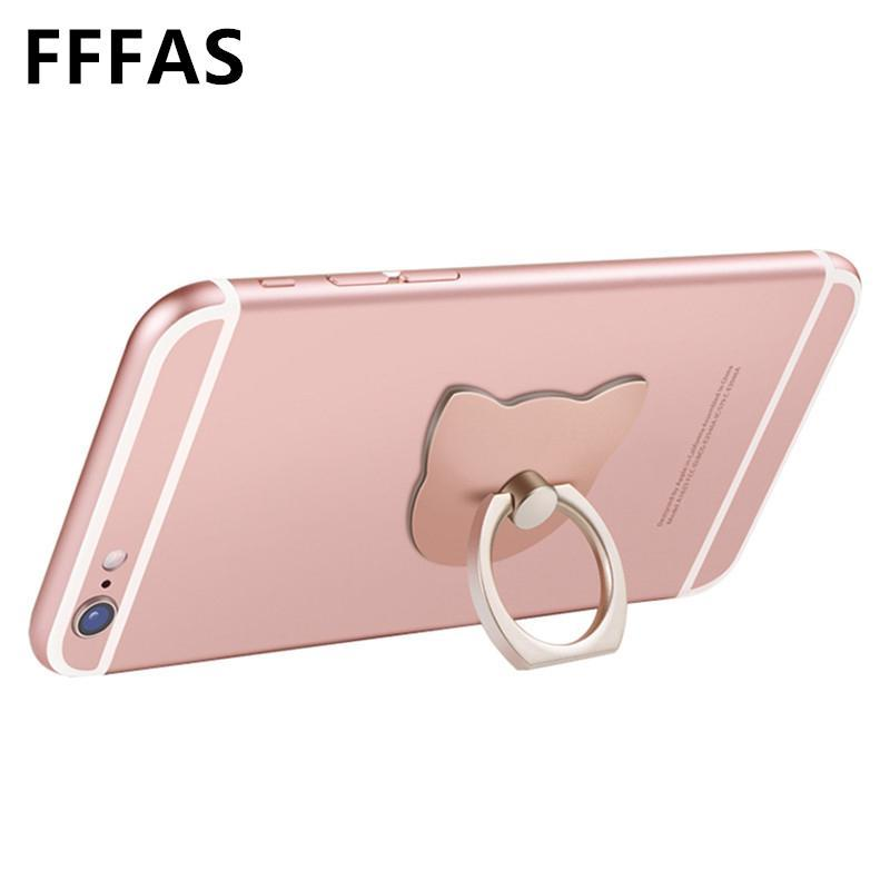 Finger Ring Holder Finger Ring Holder FFFAS Cat Ear Moblile Phone Finger Ring Holder Cute Stand Charging Support Cell Phone Universal Bear Bracket for Apple Iphone X
