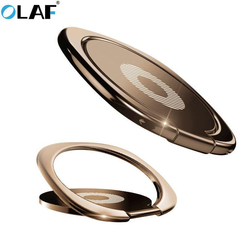 Finger Ring Holder Finger Ring Holder OLAF Metal plating Phone Ring Holder For iPhone Samsung Huawei Phone Desktop Stand 360 Finger Ring Phone Holder