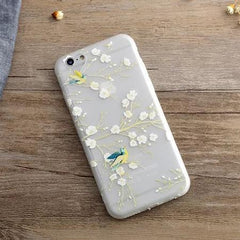 Phone Accessories Case 1 / For iPhone 6Plus 6SP Phone Case For iPhone  SE  New Spring Blossoms Magpie Animal Cartoon Frosted Soft