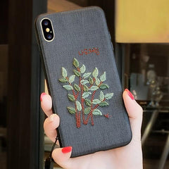 Phone Accessories Case 1 / PC + TPU Embroidery 3d case for iphone x 10 silicone