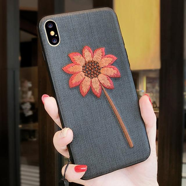 Phone Accessories Case 2 / PC + TPU Embroidery 3d case for iphone x 10 silicone