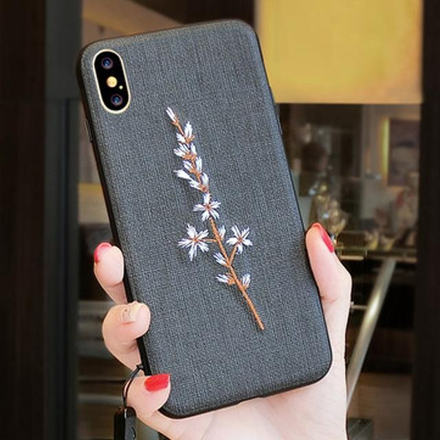 Phone Accessories Case 3 / PC + TPU Embroidery 3d case for iphone x 10 silicone