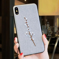 Phone Accessories Case 6 / PC + TPU Embroidery 3d case for iphone x 10 silicone