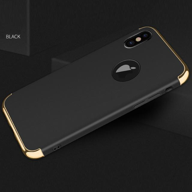 Phone Accessories Case black / for iphone x Luxury hard plastic case for iphone X