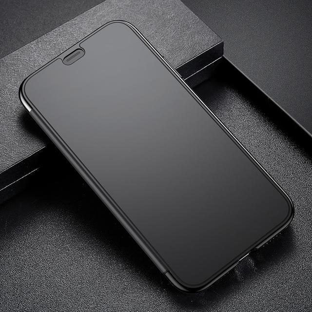 Phone Accessories Case Black / For iPhone X Slim Flip Case For iPhone X  Full Screen Protector Window Cover Shells