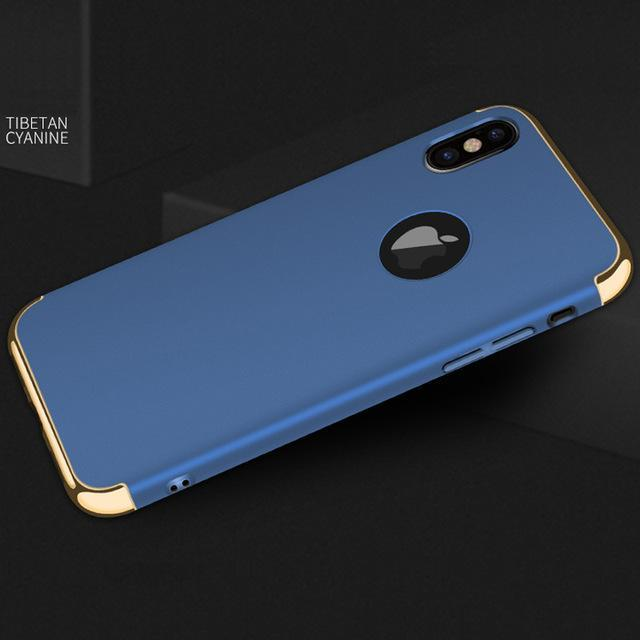 Phone Accessories Case blue / for iphone x Luxury hard plastic case for iphone X