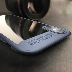 Phone Accessories Case Blue / PC + TPU Phone Case For iPhone X Thin Phone Luxury Fashion PC+TPU Hybrid Armor