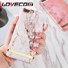 Phone Accessories Case Glossy Marble Phone Case For iPhone 6  Fashion Gold Bar Classical Marbles