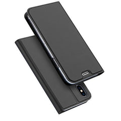 Phone Accessories Case Gray / For iPhone X Luxury PU Leather Phone Case for iPhone X Flip Cover Wallet