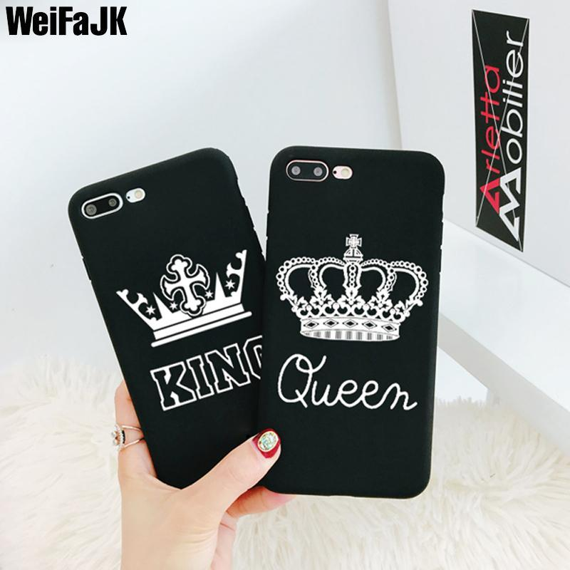 Phone Accessories Case Luxury King Queen Case For iPhone x,8 ,8 Plus,7,7 Plus,6,6s,5s
