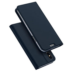 Phone Accessories Case Luxury PU Leather Phone Case for iPhone X Flip Cover Wallet