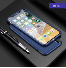Phone Accessories Case Navy Blue 360 Degrees Full Protective Luxury Matte Cases  soft shell For Apple iphone 7